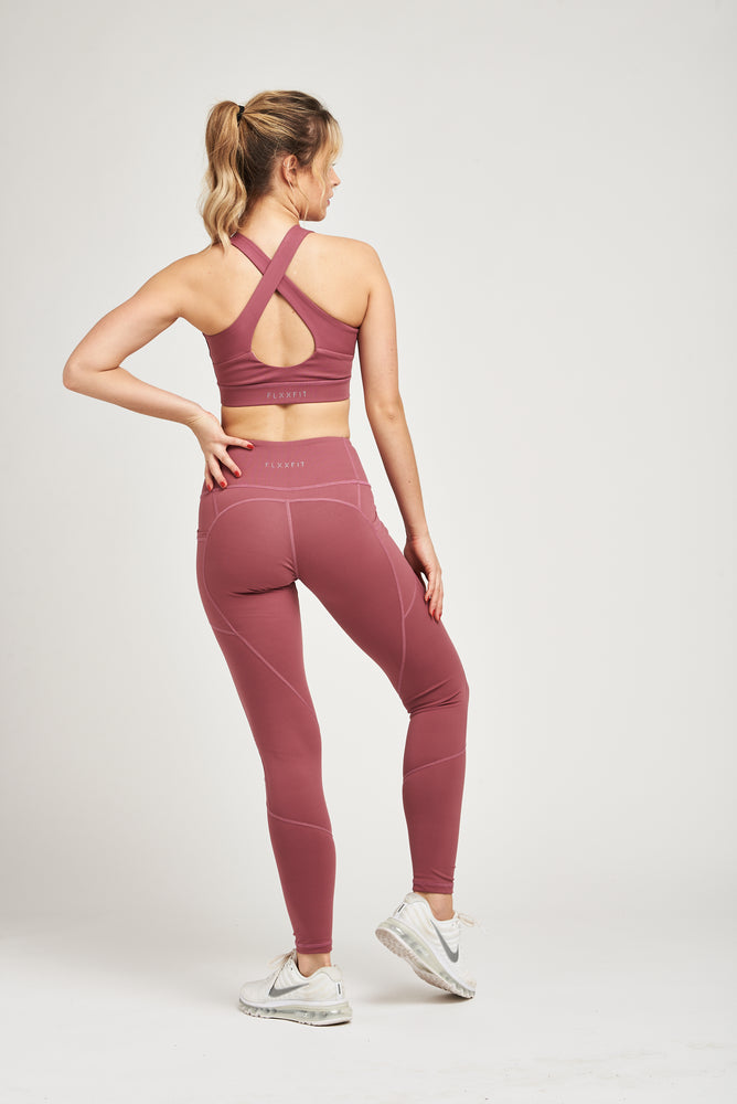 Load image into Gallery viewer, Luxe Heart Contour Leggings - Mystic Merlot