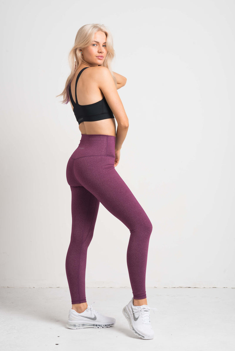 Luxe Leggings - Purple Fleck
