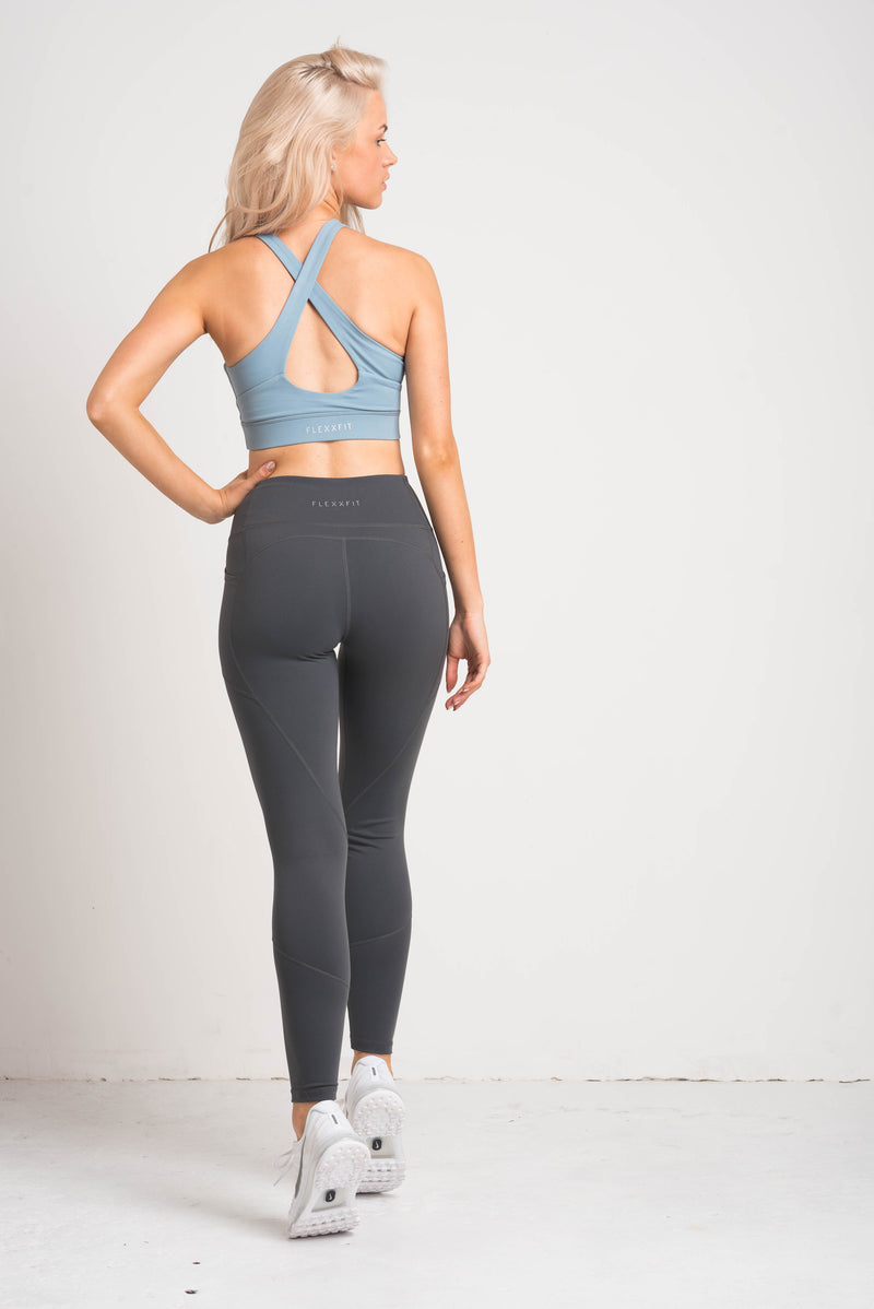Luxe Crossover Bra - Powder Blue
