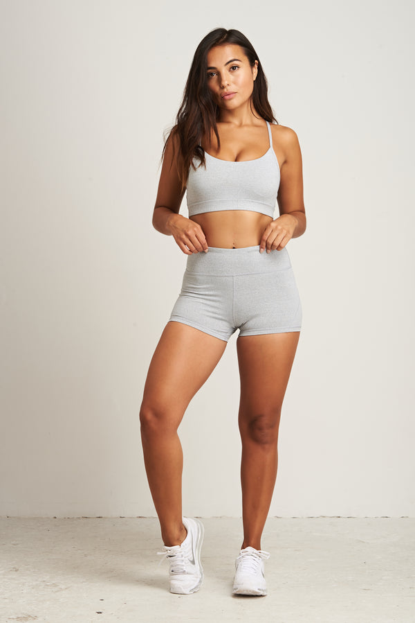 Luxe Shorts - Grey Marl