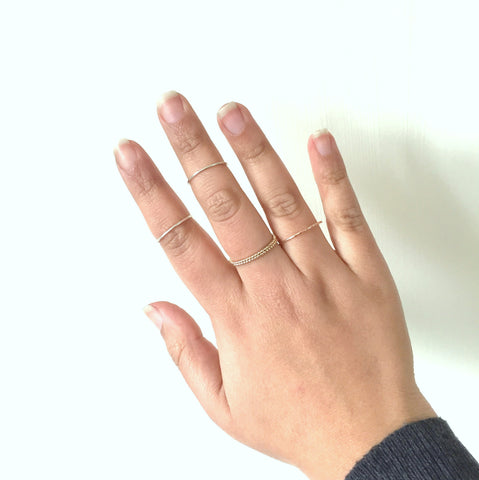 Midi rings modelled - how to style
