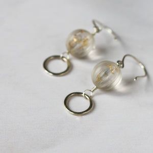 vintage lucite and sterling silver earrings