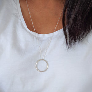 Long sterling silver necklace - sustainable jewellery