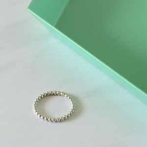 Chunky Dotted Stacking Ring - Sterling Silver