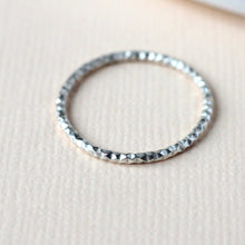 Diamond Cut Stacking Ring - Sterling Silver