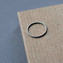 Dotted Stacking Ring - Sterling Silver