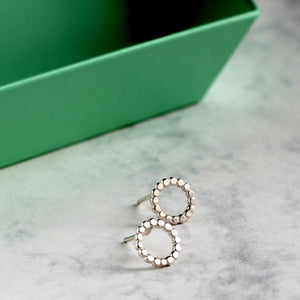 Dot silver studs - sustainable jewellery - Mela Jewellery