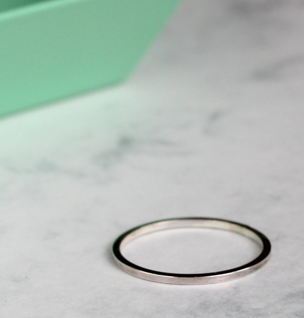 Square Stacking Ring - Sterling Silver