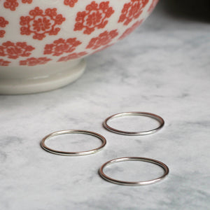 Skinny Stacking Ring - Sterling Silver