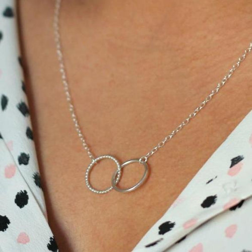 Mini Linked Circle Necklace - Sterling Silver