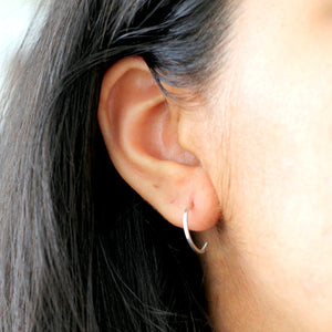 Open Hoop Earrings - sterling silver studs