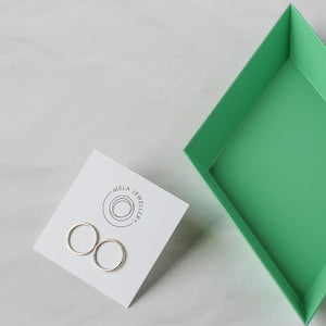 Orbit Studs - sterling silver circle studs