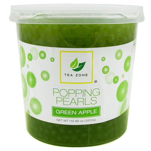 Tea Zone Green Apple Popping Pearls (7 lbs) - CustomPaperCup.com Branded Restaurant Supplies