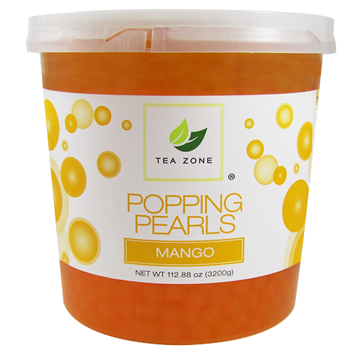 Tea Zone Mango Popping Pearls (7 lbs) - CustomPaperCup.com Branded Restaurant Supplies