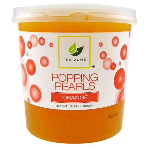 Tea Zone Orange Popping Pearls (7 lbs) - CustomPaperCup.com Branded Restaurant Supplies