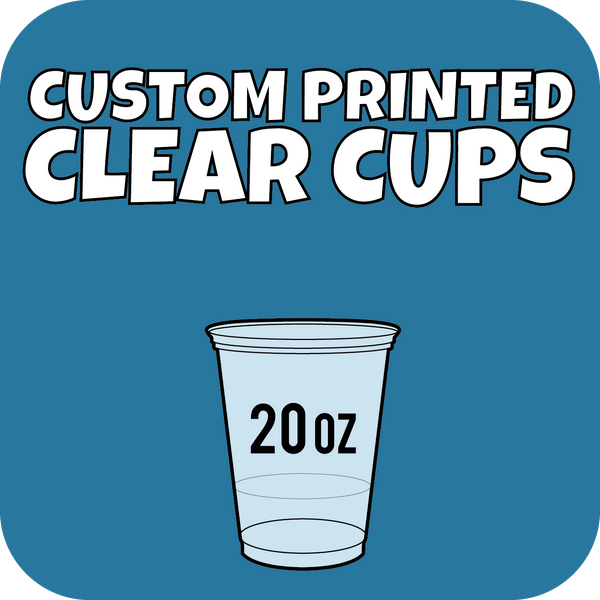 20oz Custom Printed Clear Cups 600ct - CustomPaperCup.com Branded Restaurant Supplies