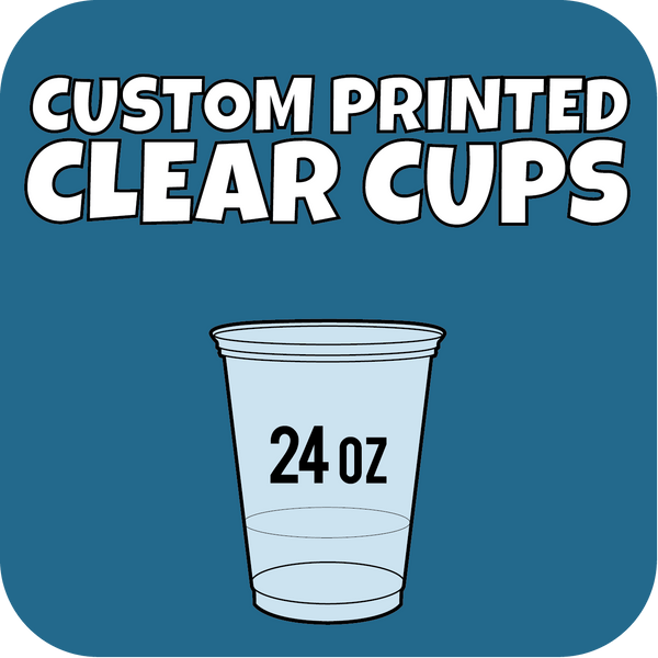 24oz Custom Printed Clear Cups 600ct - CustomPaperCup.com Branded Restaurant Supplies