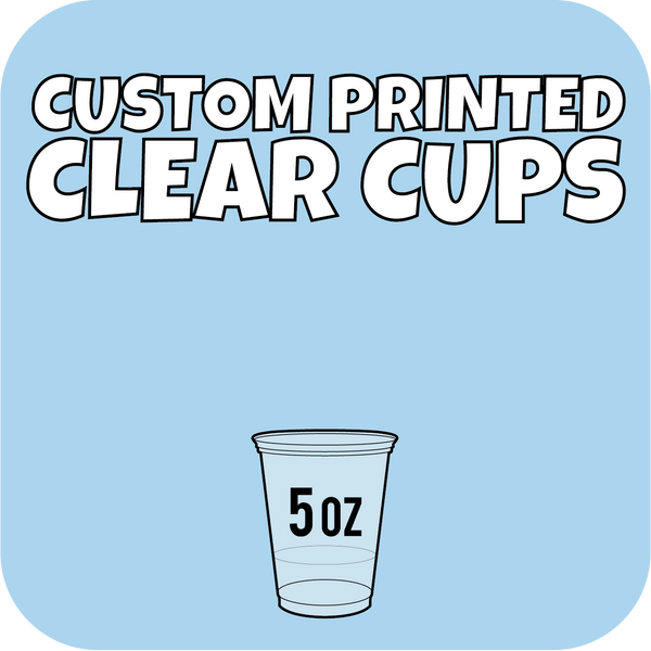 5oz Custom Printed Clear Cups 2500ct - CustomPaperCup.com Branded Restaurant Supplies