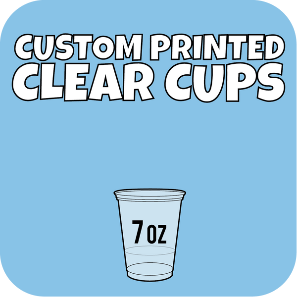 7oz Custom Printed Clear Cups 1000ct - CustomPaperCup.com Branded Restaurant Supplies