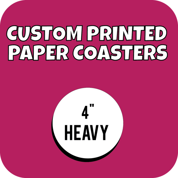 "4"" Heavyweight Custom Printed Paper Drink Coasters - CustomPaperCup.com Branded Restaurant Supplies"