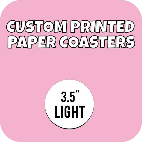 3.5in Lightweight Custom Printed Paper Drink Coasters - CustomPaperCup.com Branded Restaurant Supplies