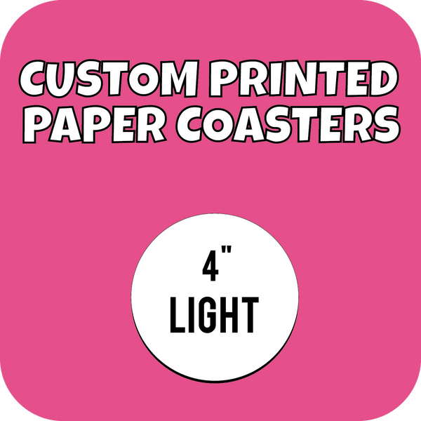 4in Lightweight Custom Printed Paper Drink Coasters - CustomPaperCup.com Branded Restaurant Supplies