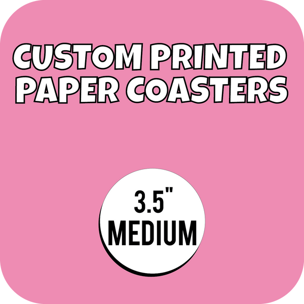 3.5in Medium Weight Custom Printed Paper Drink Coasters - CustomPaperCup.com Branded Restaurant Supplies