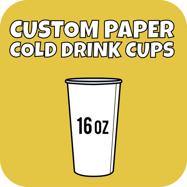 16oz Custom Printed Paper Cold Drinks Cups 700ct - CustomPaperCup.com Branded Restaurant Supplies