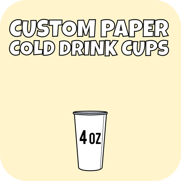 4oz Custom Printed Paper Cold Drinks Cups 1000ct - CustomPaperCup.com Branded Restaurant Supplies