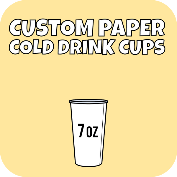 7oz Custom Printed Paper Cold Drinks Cups 1000ct - CustomPaperCup.com Branded Restaurant Supplies