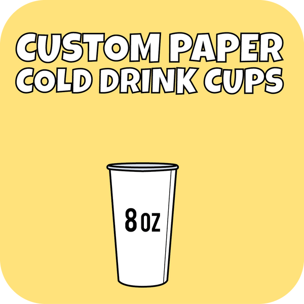 8oz Custom Printed Paper Cold Drinks Cups 1000ct - CustomPaperCup.com Branded Restaurant Supplies