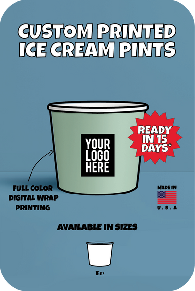 CUSTOM PRINTED ICE CREAM PINTS - CustomPaperCup.com Branded Restaurant Supplies