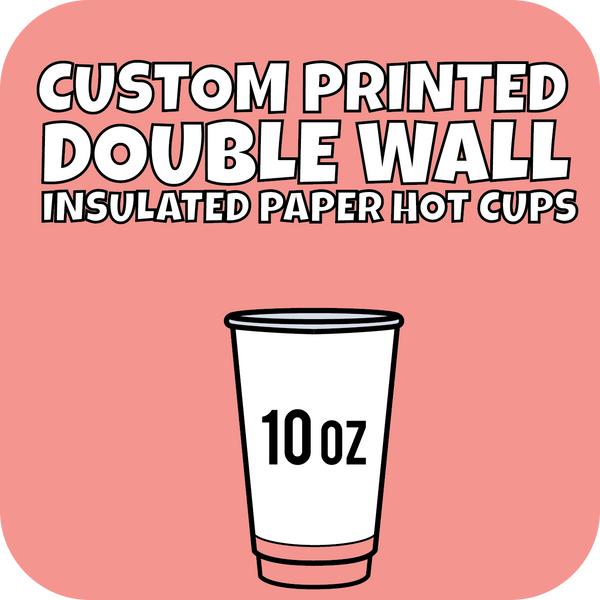 10oz Custom Printed Double Wall Hot Cups 1000ct - CustomPaperCup.com Branded Restaurant Supplies