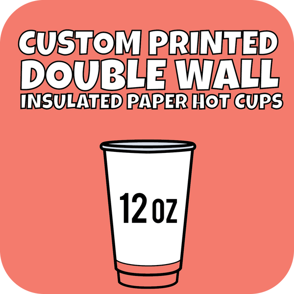 12oz Custom Printed Double Wall Hot Cups 500ct - CustomPaperCup.com Branded Restaurant Supplies