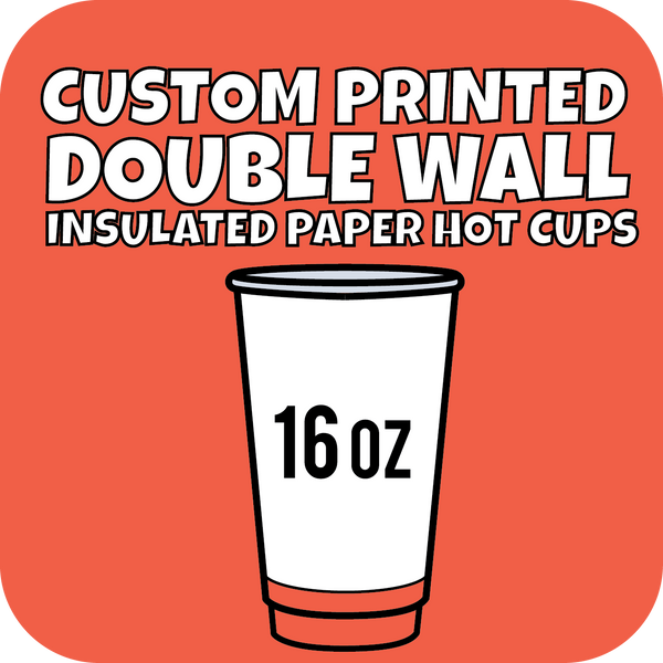 16oz Custom Printed Double Wall Hot Cups 500ct - CustomPaperCup.com Branded Restaurant Supplies