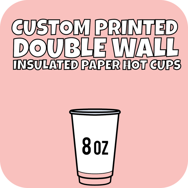 8oz Custom Printed Double Wall Hot Cups 500ct - CustomPaperCup.com Branded Restaurant Supplies