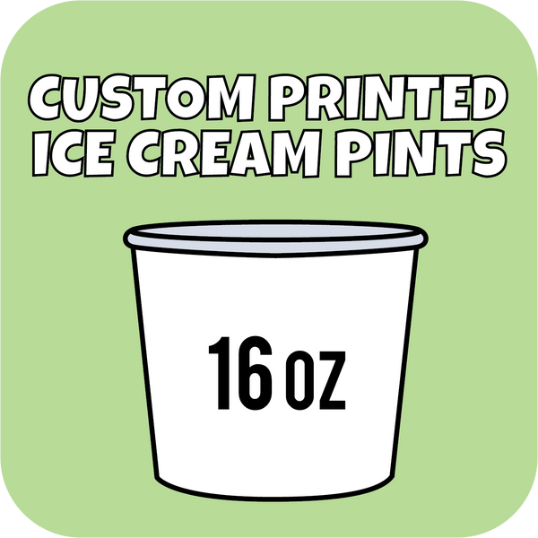 16oz Custom Printed Paper Ice Cream Pint Containers 250ct - CustomPaperCup.com Branded Restaurant Supplies