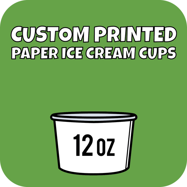 12oz Custom Printed Paper Ice Cream Cups - CustomPaperCup.com Branded Restaurant Supplies