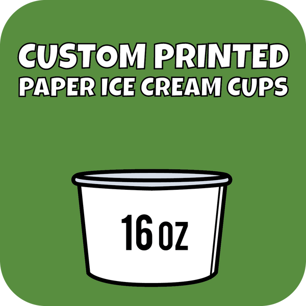 16oz Custom Printed Paper Ice Cream Cups - CustomPaperCup.com Branded Restaurant Supplies