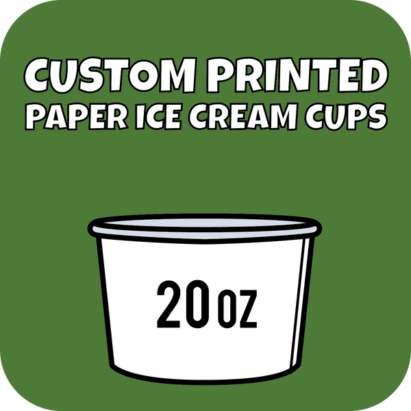 20oz Custom Printed Paper Ice Cream Cups - CustomPaperCup.com Branded Restaurant Supplies