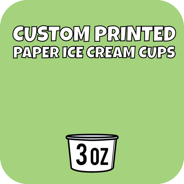 3oz Custom Printed Paper Ice Cream Cups - CustomPaperCup.com Branded Restaurant Supplies