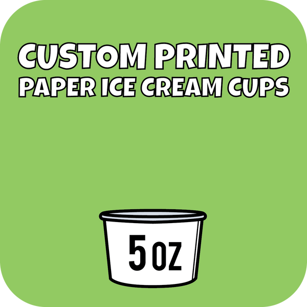 5oz Custom Printed Paper Ice Cream Cups 1260ct - CustomPaperCup.com Branded Restaurant Supplies