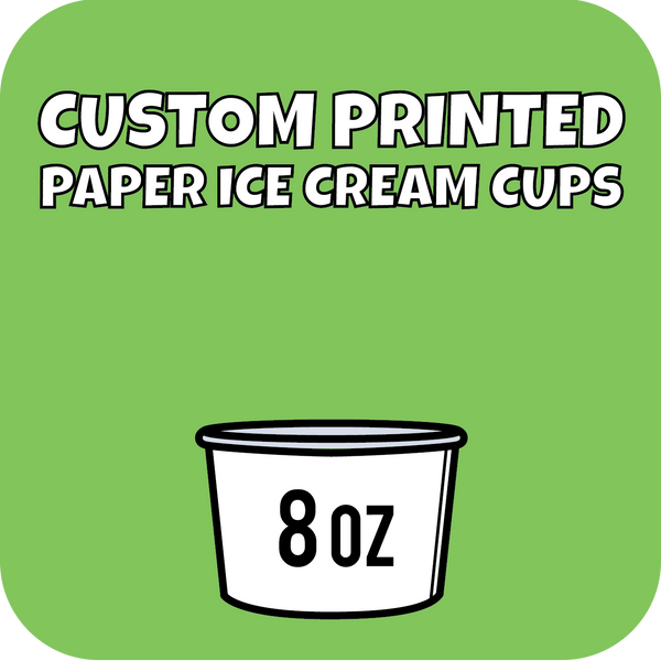 8oz Custom Printed Paper Ice Cream Cups 960ct - CustomPaperCup.com Branded Restaurant Supplies