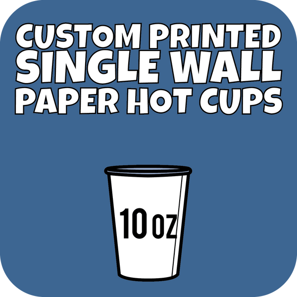 10oz Custom Printed Single Wall Paper Hot Cups 1000ct - CustomPaperCup.com Branded Restaurant Supplies