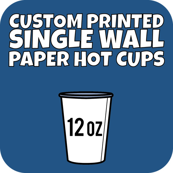 12oz Custom Printed Single Wall Paper Hot Cups 1000ct - CustomPaperCup.com Branded Restaurant Supplies