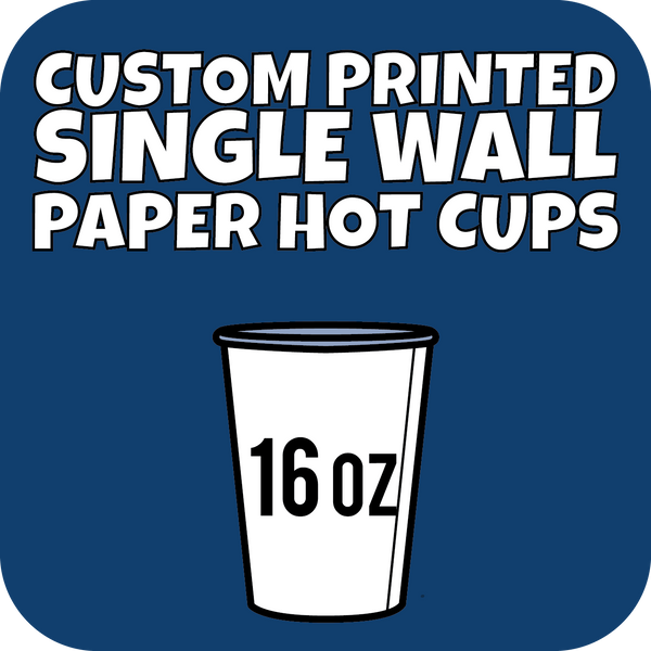 16oz Custom Printed Single Wall Paper Hot Cups 700ct - CustomPaperCup.com Branded Restaurant Supplies