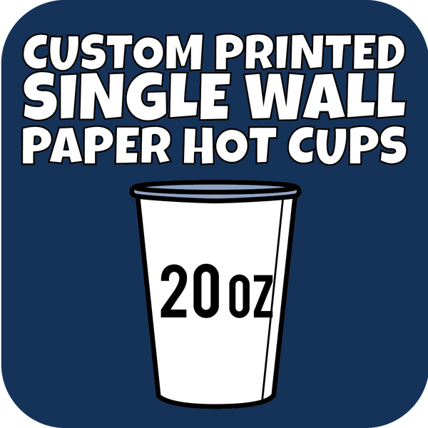 20oz Custom Printed Single Wall Paper Hot Cups 700ct - CustomPaperCup.com Branded Restaurant Supplies