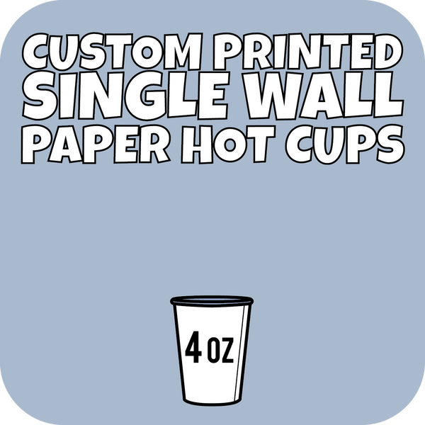 4oz Custom Printed Single Wall Paper Hot Cups 3000ct - CustomPaperCup.com Branded Restaurant Supplies