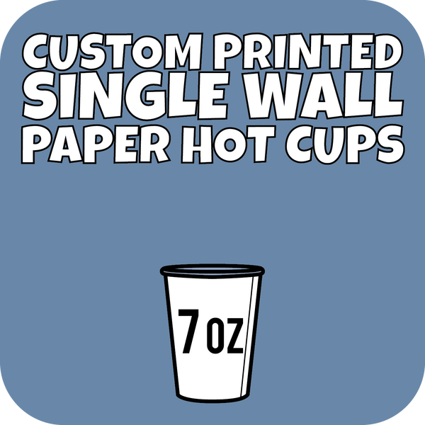 7oz Custom Printed Single Wall Paper Hot Cups 2000ct - CustomPaperCup.com Branded Restaurant Supplies
