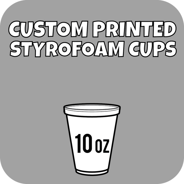 10oz Custom Printed Styrofoam Cups 1000ct - CustomPaperCup.com Branded Restaurant Supplies